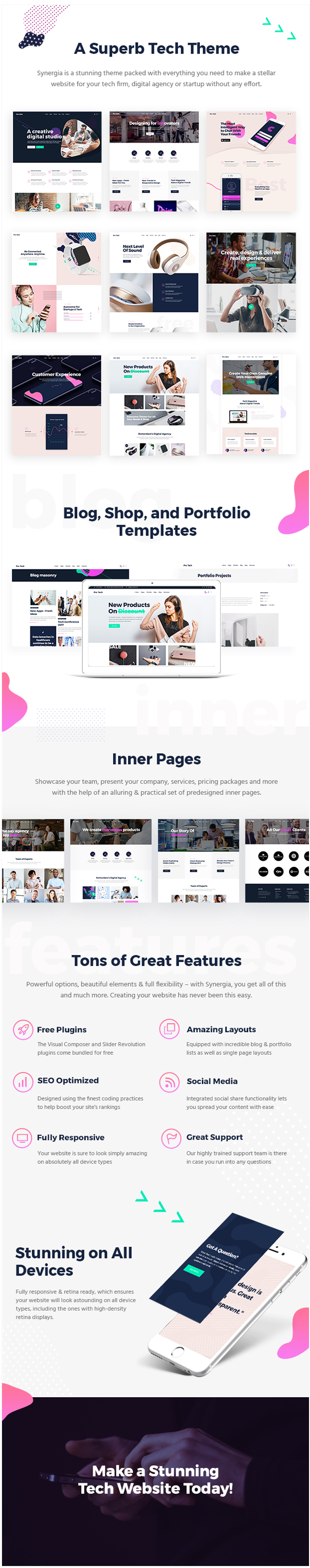 WordPress theme Synergia - A Multi-Concept Theme for Digital Agencies and Startups (Technology)
